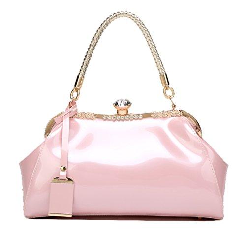 Handbag Shoulderbag Leather Messenger Patent Yan Pack Show Women's Pink Bride Bag wqIx1tX7
