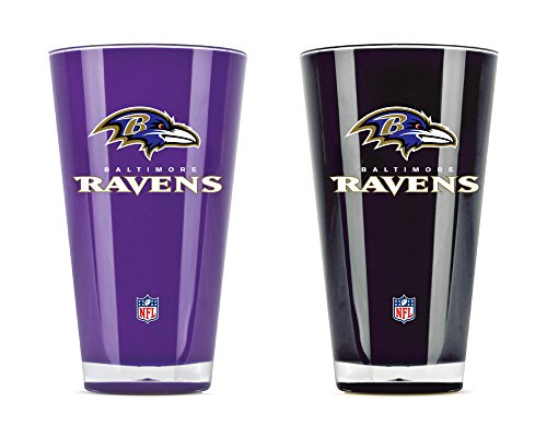 NFL Baltimore Ravens 20-Ounce Insulated Tumbler - 2 (Baltimore Ravens Glass)