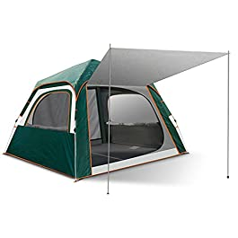 Camping Tent 6 Person Family Tents for Camping Party – Double Large Doors and Windows, for Family, Outdoor, Hiking