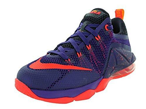Nike Mens Lebron Xii Scarpa Da Basket Bassa Crt Prpl / Brght Crmsn / Cv Prpl / L