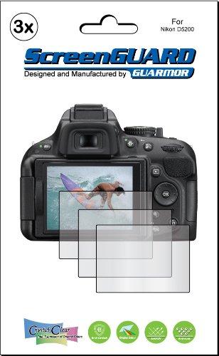 Guarmor - Juego de protectores de pantalla para cámara Nikon D5200 ...