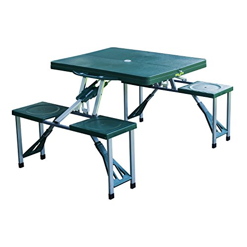 Outdoor Patio Portable Folding Table Camping Picnic Garden Seat With Case Deep Green #510 (Patio Furniture Miami Fl)