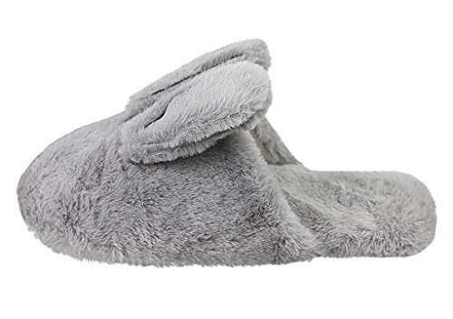 Anti Indoor Plush Winter Rabbit Bedroom Slippers House Bunny Soft Gift Foam Slip Grey Memory Womens Cute Xmas Shoes pnvqxwOXR