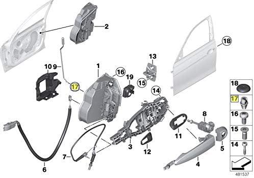BMW Door Lock Rod Link Lever Pivot Clip Grommet Bush 51221817032