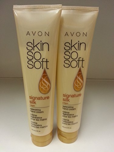 Lot of 2 Avon Skin so Soft Signature Silk Replenishing Hand Cream 100 Ml x 2 - Avon Skin So Soft Hand Cream