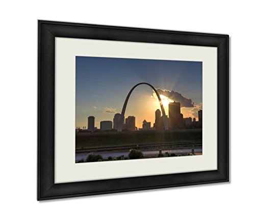 Ashley Framed Prints, St Louis Missouri Skyline From Malcolm W Martin Memorial Park, Black, 24x30 Art, - Glasses Malcolm X For Sale
