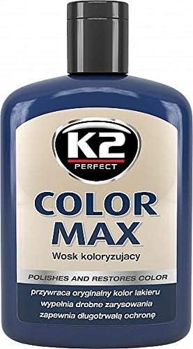 K2 Farbwachs Dunkelblau Wachspolitur Carnauba Zum Ausbessern Lackpolitur 200ml Auto