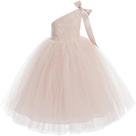 ekidsbridal One Shoulder Wedding Pageant Dresses
