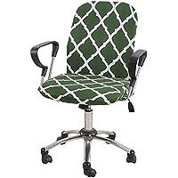 Bedrukt Stretch Hoes Voor Bureaustoel, 2 Stucks Eetkamerstoel Beschermer Comfortabel Bureaustoelhoes Draaistoel…