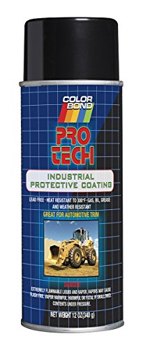 Paint High Temp Enamel Gloss (ColorBond (2083) Pro Tech High Temp Enamel Industrial Coating, Gloss Black - 12 oz.)