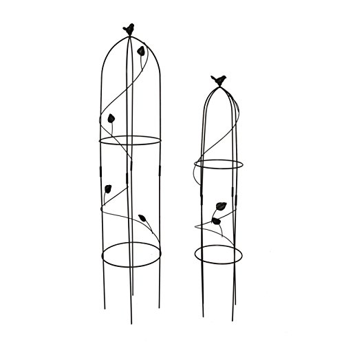 2 Packs Garden Obelisk Metal Trellis Flower Support for Climbing Vines and Plants, 39.3