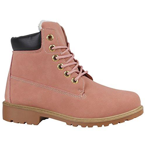 Unisex Damen Herren Warm Gefütterte Damen Worker Boots Stiefeletten Outdoor Flandell Rosa Brito