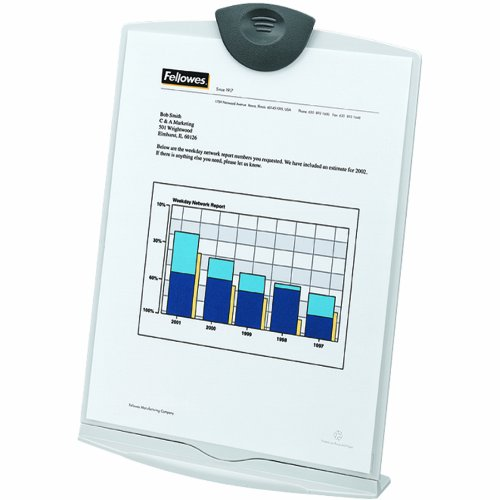 Fellowes Copystand, Platinum/Charcoal - Copyholder Metal Fellowes