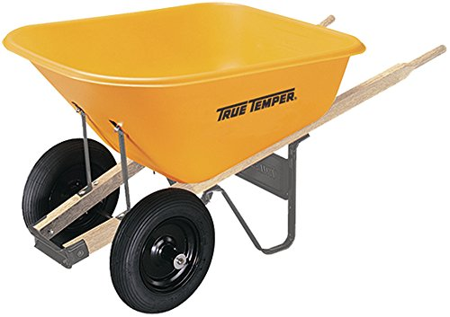 The AMES Companies, Inc True Temper 8 Cubic Foot Dual Wheel Poly Wheelbarrow
