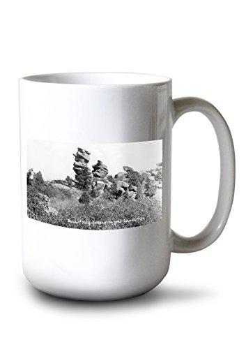 Lantern Press Colorado Springs, Colorado - Punch and Judy Rock Formations, Garden of The Gods Photograph (15oz White Ceramic Mug) ()