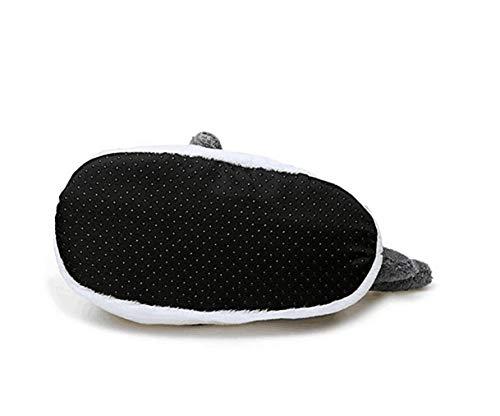 Squalo In Antiscivolo Pantofole Con Peluche Testa Di Cotone Grey Animali Fondo 5fwFqY