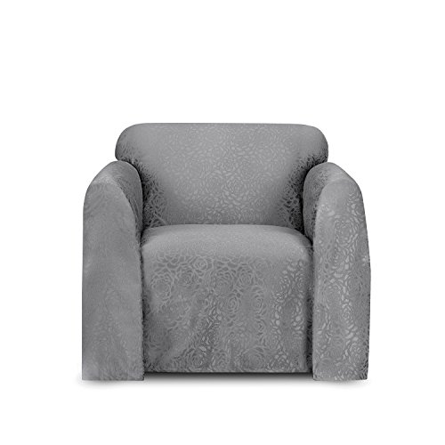 Stylemaster Home Products Stylemaster Rosanna Jacquard Furniture Chair Throw, Chrome