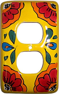Talavera Ceramic Switch (Canary Talavera Outlet Switch Plate)