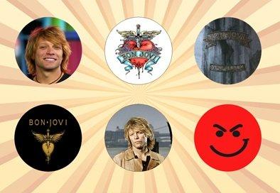 Nice Pinback Button - Bon Jovi Set of 6 - 1 Inch Pinback Buttons