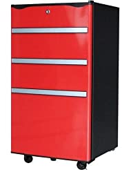 Igloo 3.2 cu ft Toolbox Refrigerator with Locking Wheels, Red