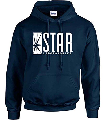 Star Laboratories Star Labs Hoodie Sweatshirt Sweater S.T.A.R Hooded Pullover - Premium Quality (Medium, Navy Blue)