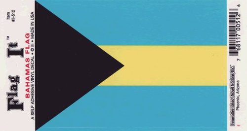 Bahamas flag decal for auto, truck or boat