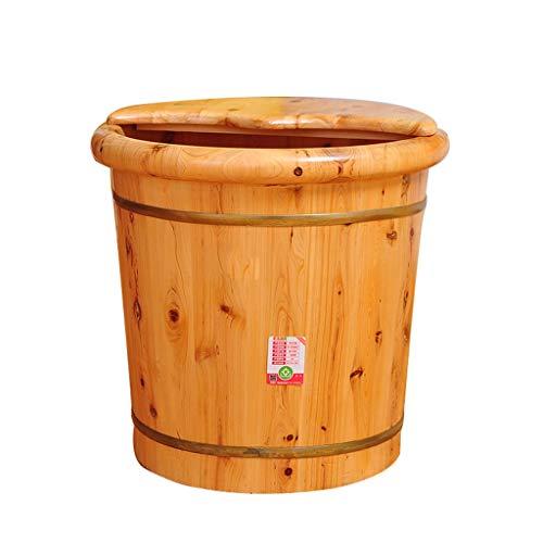 LIZHIQIANG Footbath,Cedar Foot Bath Barrel,Smooth And Delicate Pedicure Barrels Pedicure Bowl Spa Massage For Soaking Feet Massager Foot Tub (Color : A)