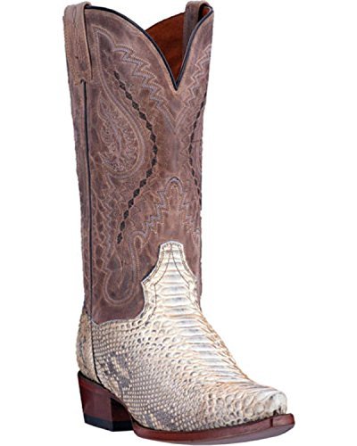 Dan Post Python Mens Boots (Dan Post Men's Python Orlando Cowboy Boot Snip Toe Natural 9 EE)