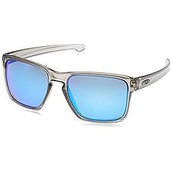 Oakley Men's Sliver Xl Non-polarized Iridium Rectangular Sunglasses, Ruby Fade, 57 Mm