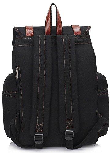 Black Girls Large For School Rucksack Pack Laptop 1 Ladies Women Travel Backpack New Design Bag Back Canvas Boys YOwwq8T7