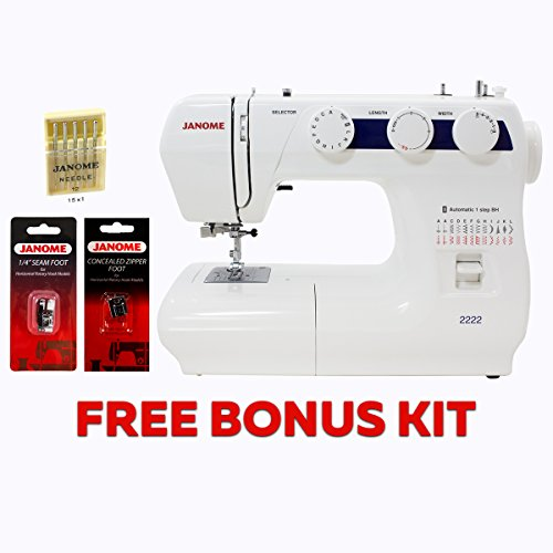 Janome 2222 Sewing Machine with Kit (Janome Sewing Kit)