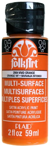 FolkArt Multi-Surface Paint in Assorted Colors (2 oz), 2904, Vivid Orange ()