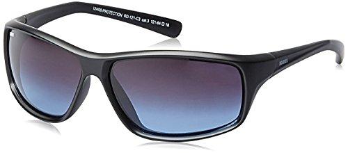 MTV Roadies Unisex Sporty Wrap-Around Protective Light Weight with 100% UV Blocking Shatterproof Polycarbonate Lens Sunglasses RD-121 (Blue, - Ladies Around Wrap Sunglasses