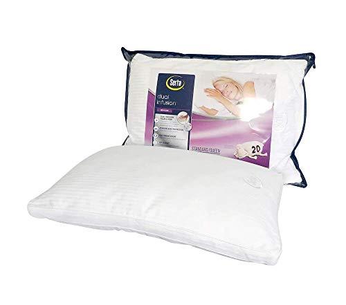 Serta Dual Infusion Gel Memory Foam and Fiber Bed Pillow King
