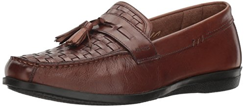 Dockers Men's Hillsboro Slip-on Loafer, Antique Brown, 10.5 M US Brown Woven Leather Loafer