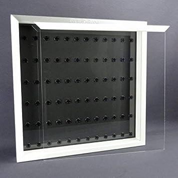 Caja para Figuras 50 x 50 Vitrina para Vuestro Lego Figuras Blanco Negro: Amazon.es: Juguetes y juegos