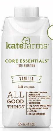 Kate Farms - Core Essentials Meal Replacement Shake - Vanilla - 2 Case Special