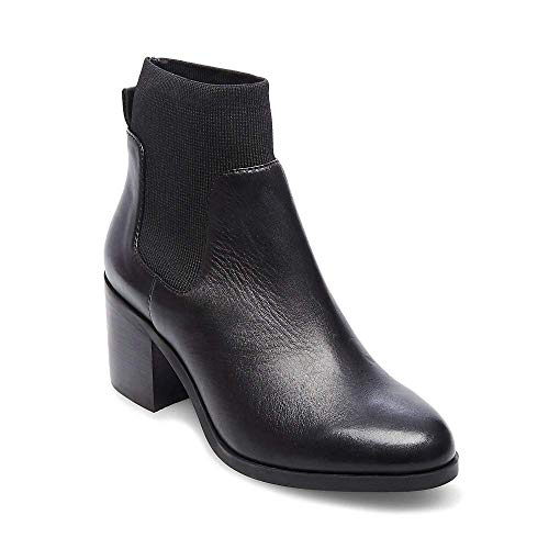 Madden Casual Bootie Black 9 5 Women's Us Steve Erika Leather OwTCddqa