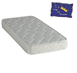 Nuits D'or Baby Dream 70x140 Matelas Mousse Poli Lattex - Tissu 70% Coton - Hauteur 15 Cm - Anti-acariens Antibactériens Hypoallergénique 70 x 140 cm (70_x_140_cm)