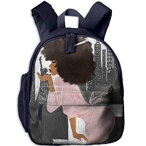 Kindergarten Backpack African Women Love New York Children School Bag