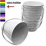Italia 6-Pack Metal Bucket 3.7 Quart color White Size 7.5 x 7.5''