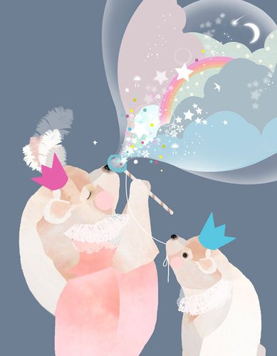 Oopsy Daisy Canvas Wall Art, Bubble Bear, 14