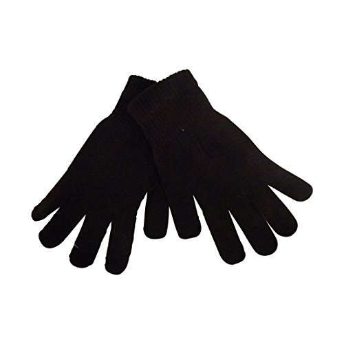 Ladies Gloves Magic Knit Gloves for Women Solid Brown, One Size (1 Gloves Magic)