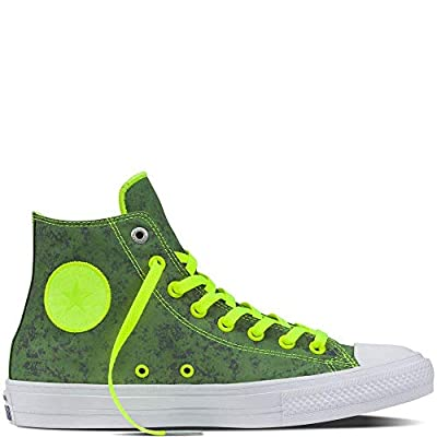 Converse Unisex Chuck Taylor All Star II Hi Top Sneaker (3.5 Men/Women 5.5, Volt/Pure Silver)