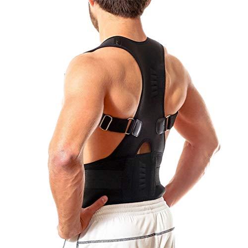 XOKIMI Posture Corrector for Women and Men Neck Pain Relief Adjustable Upper Back Brace Clavicle Support Black (Best Exercises For Spondylolisthesis)