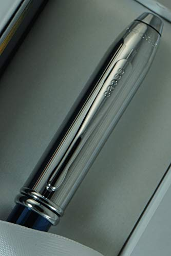 Cross Townsend Limited Edition with Metallic Royal Blue Barrel and Cross Signature Double Bands Selectip Rollerball Pen