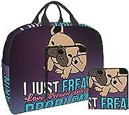wobzfrok French Bulldogs I Just Freakin Love Dogs Problem Foldable Travel Bag Luggage Storage for Sports Gym W