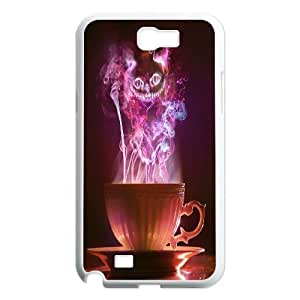High Quality {YUXUAN-LARA CASE}Smail Cheshire Cat For Samsung Galaxy Note 2 STYLE-19