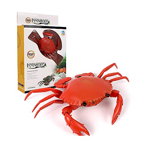 LtrottedJ Infrared Remote Control Realistic Mini Crab RC Prank Insect Scary Trick Toy (red) (Mount Name Train Wall)