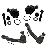 Pair Lower Ball Joint Set & Pair Steering Outer Tie Rod Ends - 2005-2012 Nissan Pathfinder - 2005-2012 Nissan Xterra - [2005-2013 Nissan Frontier]